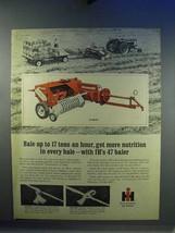 1967 International Harvester 47 Baler Ad - Nutrition - $14.99