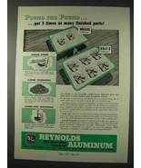 1947 Reynolds Aluminum Ad - Pound For Pound - $14.99