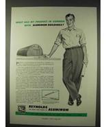 1947 Reynolds Aluminum Ad - Aluminum Buildings - $14.99