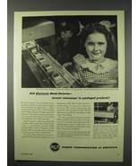 1947 RCA Electronic Metal Detector Ad - Stowaways - $14.99
