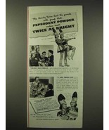 1942 Pepsodent Tooth Powder Ad - The Handy Twins - $14.99