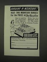 1941 Arkansas Tourism Ad - Bargains in Mountains - $14.99
