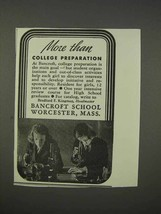 1941 Bancroft School Ad - More Than College Preparation - $14.99