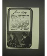 1941 Bancroft School Ad - More Than College Preparation - $14.99