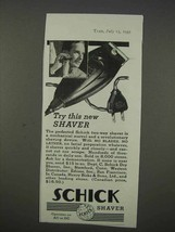1935 Schick Shaver Ad - Try This New Shaver - $14.99