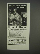 1935 Great Northern Railway Ad - The Scenic Route - $14.99