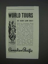 1935 Canadian Pacific Cruise Ad - World Tours - $14.99