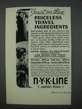 1935 NYK Line Cruise Ad - Priceless Travel Ingredients - $14.99