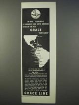 1934 Grace Line Cruise Ad - Santa Lucia, 10,500 Miles - $14.99