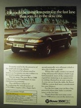 1977 Rover 3500 Car Ad - Less Petrol in the Fast Lane - $14.99