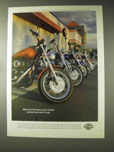1998 Harley-Davidson Motorcyle Ad - Mother Warned You - $14.99