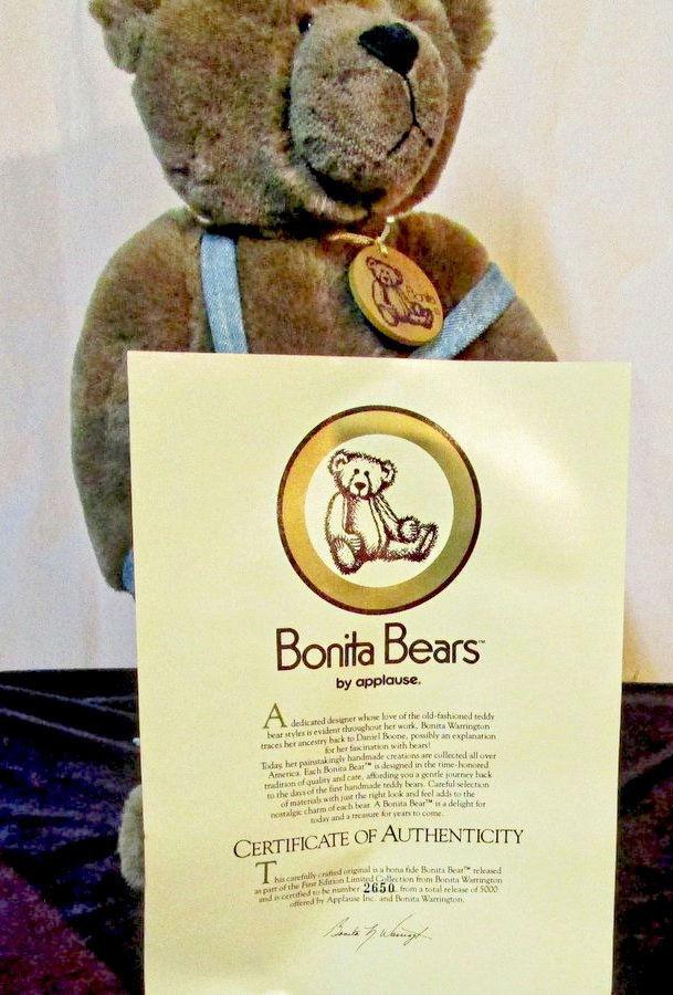 "Bonita C. Owen Bear Large 14"" Size Orginal Wooden Box with COA #2650/5000"