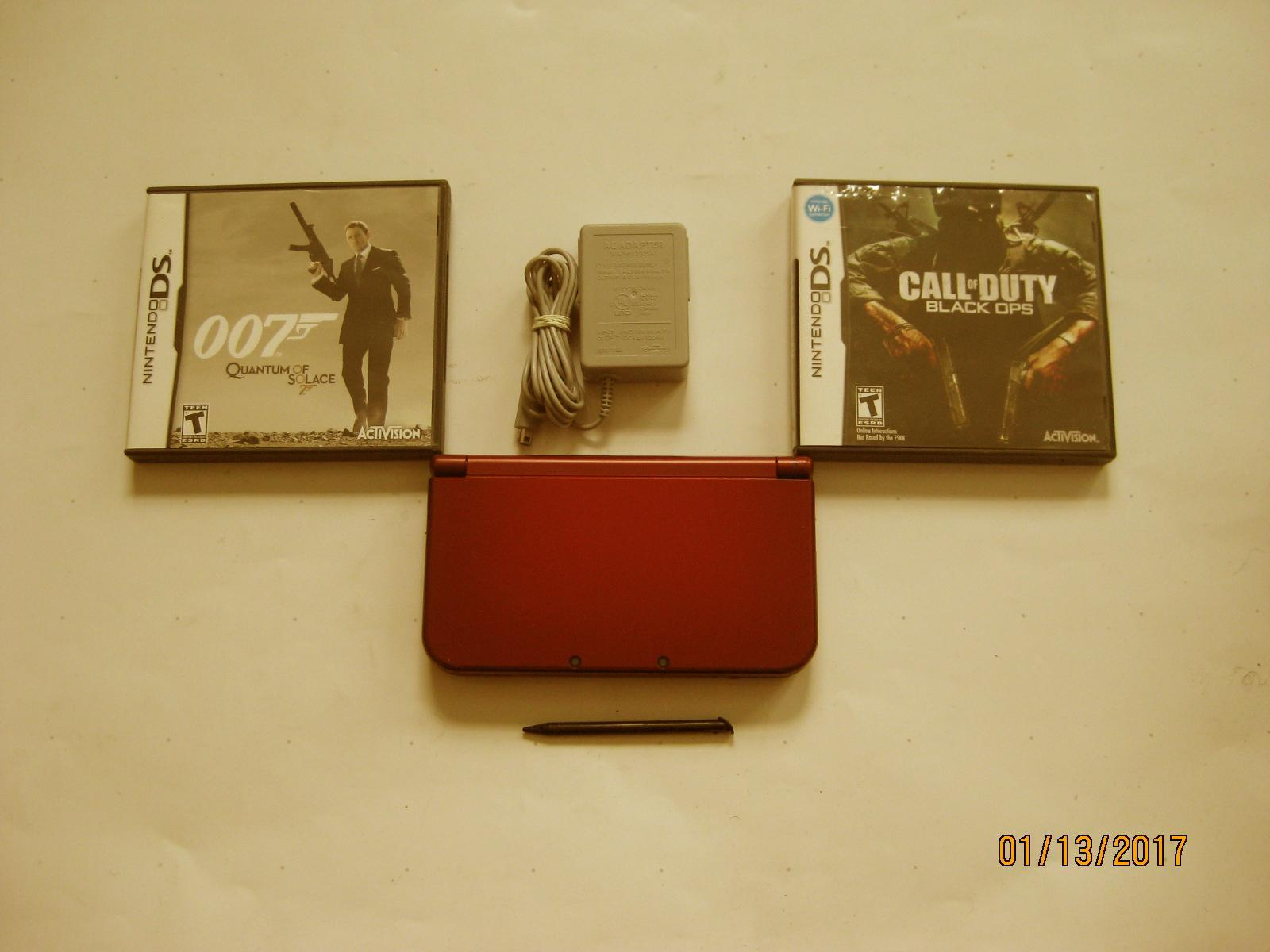 Primary image for Red Nintendo New 3ds xl w Black Ops & More!!!