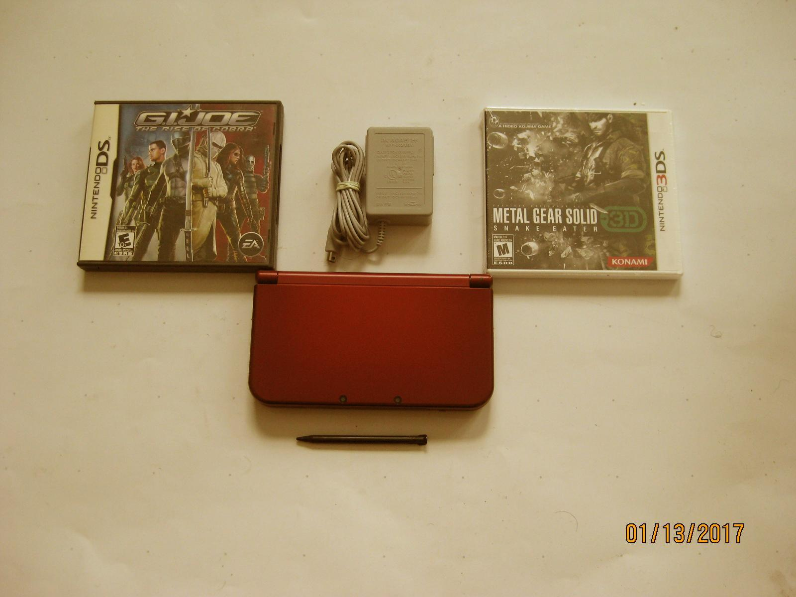 Primary image for Red Nintendo New 3ds xl 10.7 firmware w Metal Gear Solid  & More!!!
