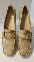 Stuart Weitzman Womens Leather Embossed Snakeskin Driving Loafers  - $62.85