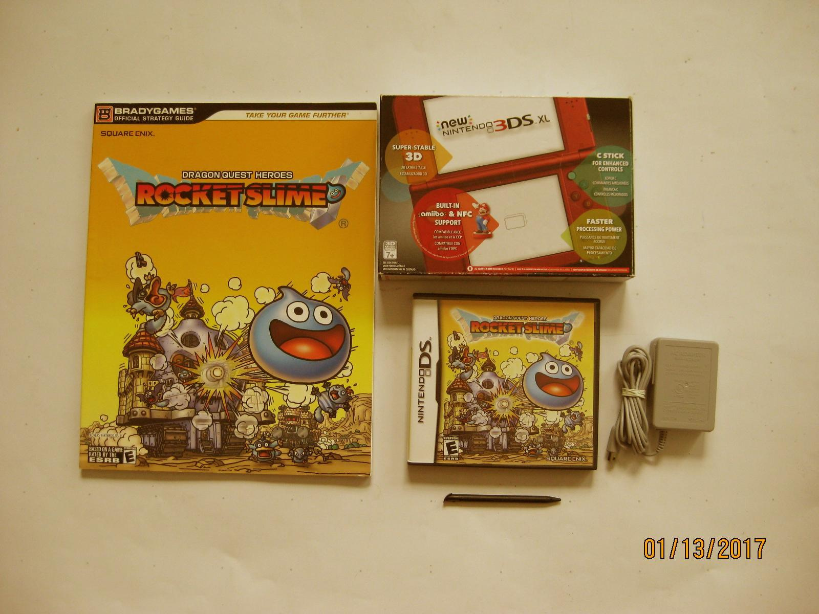 Primary image for Red Nintendo New 3ds xl w Rocket Slime  & More!!!
