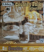 Libbey Brand ~ Country Folk Collection Moonshine Jug w/Cap ~ Six (6) Glasses - $59.40