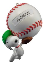 Slugger Snoopy 2016 Hallmark Christmas Ornament Peanuts Baseball Sports ... - $15.32
