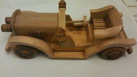 Wood antique car roadster Hand crafted Wheels R... - $14.67