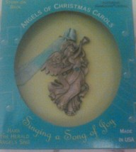 Angels Of Christmas Carols Pewter Ornament Hark The Herald Angels Sing Green New - $9.74
