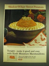 1966 Kraft Miniature Marshmallows Ad - Mallow-Whipt Sweet Potatoes - $14.99