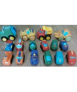 Lot Of 16 Tonka Hasbro Mini 2 1/2 inch Wheel Pals Soft Rubber Cars Truck... - $29.34