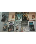 Lot of 10 Chronicles of Narnia Paperbacks Series C S Lewis Lion Witch Wa... - $24.47