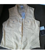 Ladies Fashion Bug Shirt Blouse yellow Cotton M... - $12.73