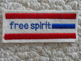 """FREE SPIRIT"" RECTANGULAR CLOTH PATCH (#1874) - $6.00"