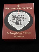 Waterford Crystal Joys Of Winter Ice Skaters Christmas Ornament 2001 4th Edition image 6