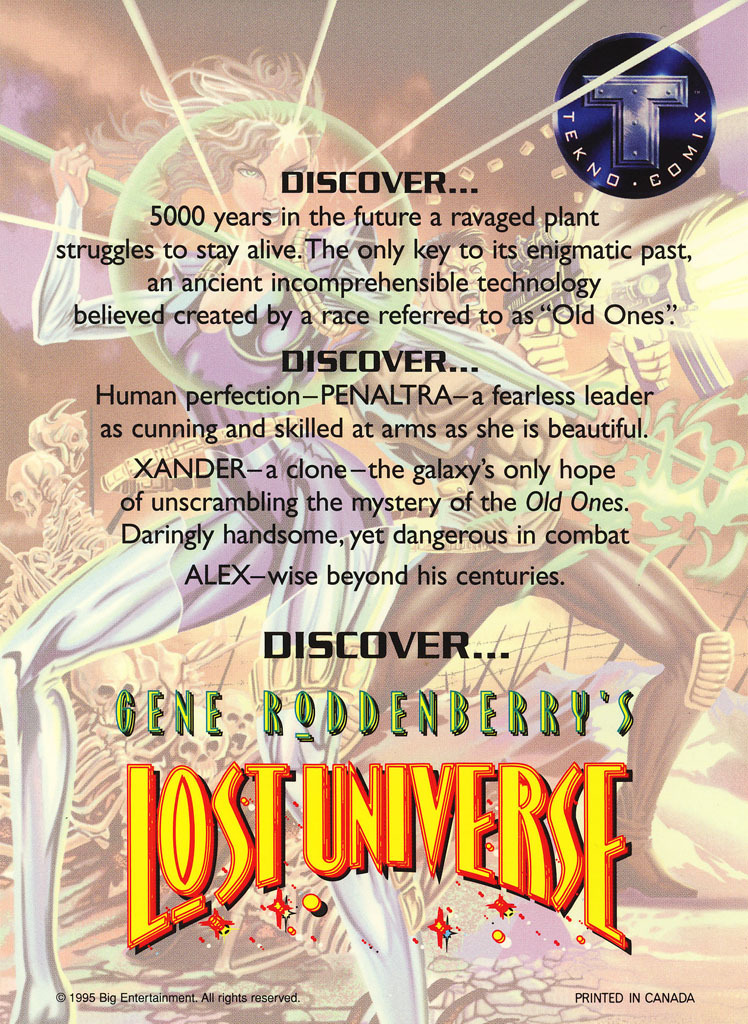 Gene Roddenberry's Lost Universe Promo Sheet image 2