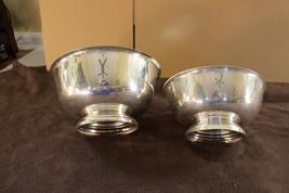 "Pair of Gorham Silver Plate Bowls, E P YC781 9"" & E P YC784 10 1/4"" - $24.99"