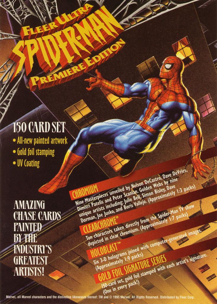Fleer Ultra Spider-Man Uncut Promo Sheet