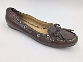 Sperry Topsider Brown Genuine Patent Leather Moc Toe Loafers Flats size ... - $27.95
