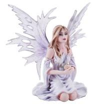Winter Purple Lilac Fairy Snow Flake Winged Fai... - $71.28