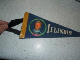 Vintage Illinois Abraham Lincoln Felt Pennant - $6.99
