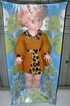 VINTAGE~DAN DEE~SALLY SO BIG~2' TALL~MIB~ANIMAL PRINT DRESS~FLINTSTONES~... - $30.84
