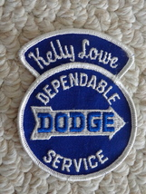 """""""KELLY LOWE """"DEPENDABLE DODGE SERVICE"""" CLOTH PATCH (#1882). - $8.99"""