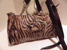 Tiger Striped GUESS Hand Shoulder Bag Wristlet Convertible Bobcat Mini - $24.18