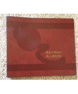 Vintage Record Album Burgundy 10 Page  Storage Book Binder - $11.65