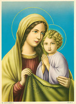 Catholic Print Picture MATER AMABILIS Virgin Mary w/ Jesus - ready to be... - $14.01