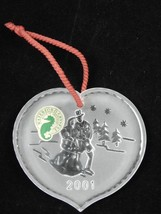 Waterford Crystal Joys Of Winter Ice Skaters Christmas Ornament 2001 4th Edition image 3