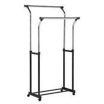 Chrome Adjustable Height Clothing Rack Bars Sto... - $39.59
