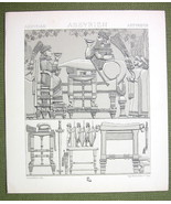 ASSYRIA Military Art Hunting Kings - (3) Three Tinted Litho Prints by Ra... - $12.15