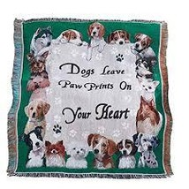 Paw Prints Tapestry Throw - $15.36