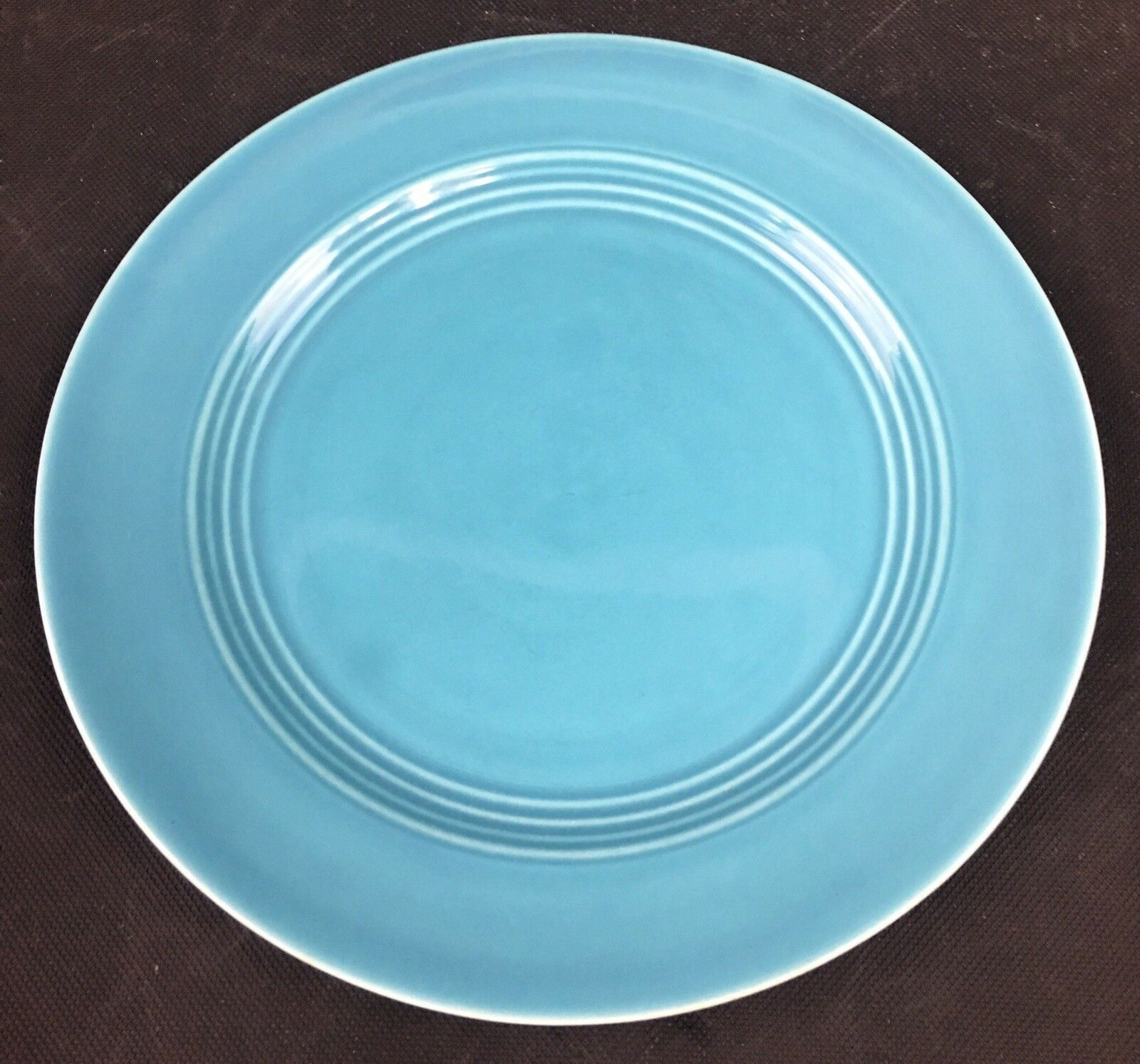 """Beautiful Vintage Homer Laughlin Harlequin Turquoise Luncheon Plate 9 1/4"""""""