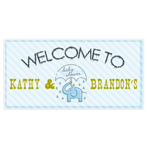 Elephant Umbrella Baby Shower Banner Personaliz... - $22.50 - $42.50