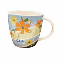 Starbucks 2007 15oz.  Flowers Retro Porcelain Coffee Mug Cup - $15.47