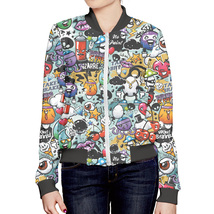 "Fashion Womens Full Printed 3D Bomber Jacket All Sizes XS - 5XL ""Hipster"" - $59.95"