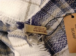 NEW Plaid Navy Blue Gray White Beige Blanket Scarf Wrap image 5